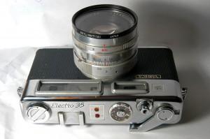 Controles de Yashica Electro 35