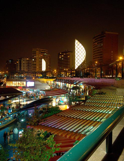 Larcomar, 2night, Miraflores, Lima, Peru