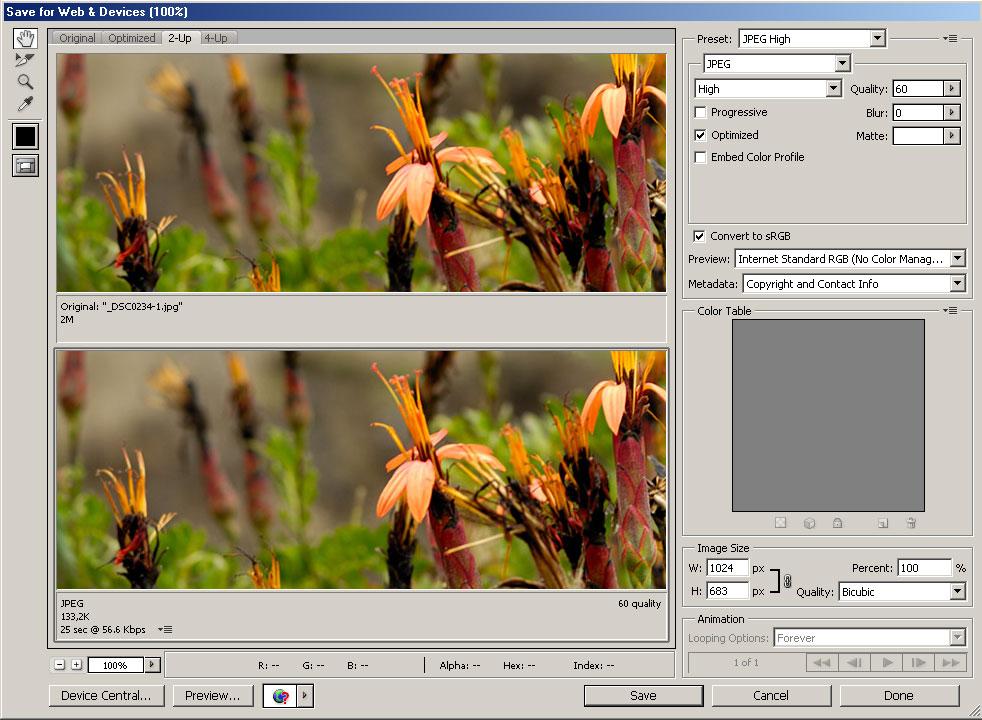 Reduciendo el tamano de las imagenes